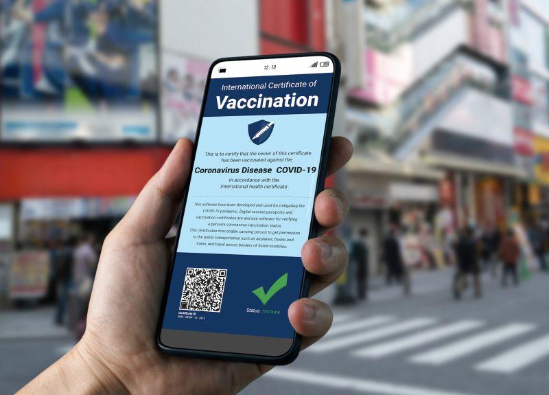 ▲日本疫苗護照示意圖。(圖/shutterstock)