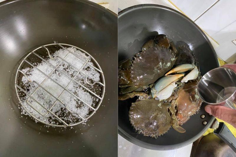 ▲網友分享一系列料理螃蟹的照片。(圖/翻攝廚藝公社臉書)
