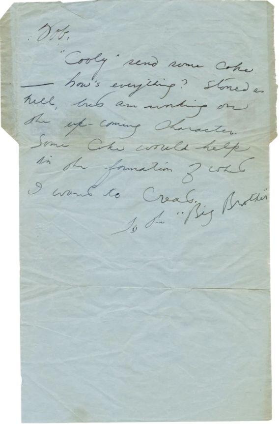 ▲▼李小龍寫給勞勃貝克的親筆信(上圖),妻子琳達也曾代夫寫信索毒(下圖),而今這些信件在跳蚤市場被發現。(圖/翻攝太陽報)