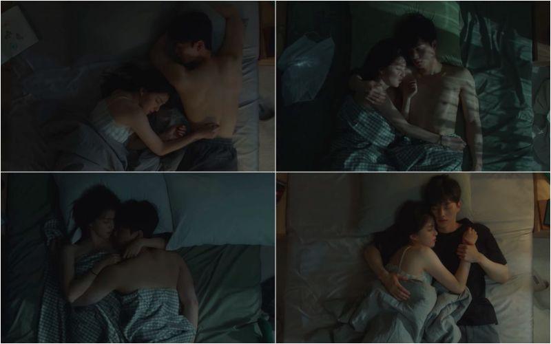▲▼韓韶禧(左)劇中跟宋江在第四集中有25場睡覺畫面。(圖/翻攝Netflix)