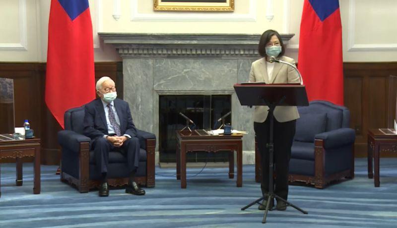 ▲張忠謀將再次代表蔡英文總統,擔任我國APEC領袖代表。(圖/總統府提供)