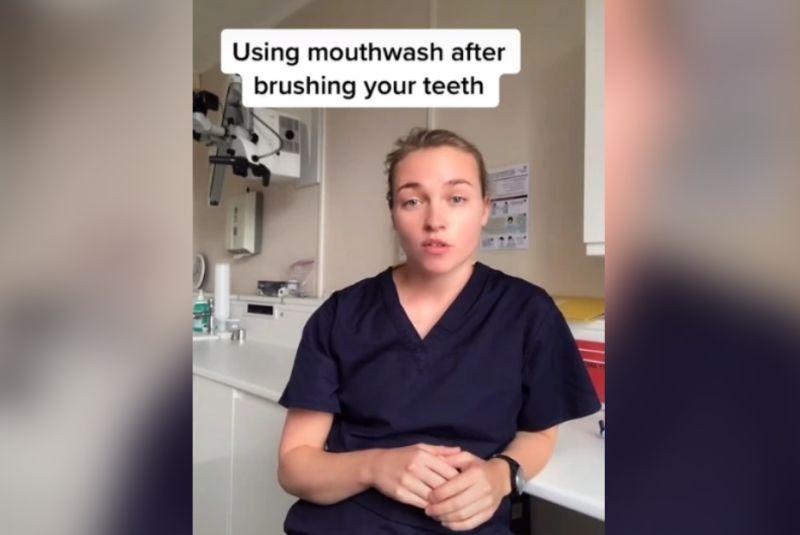 ▲英國牙醫師安娜分享正確的牙齒保健方式。(圖/翻攝抖音)