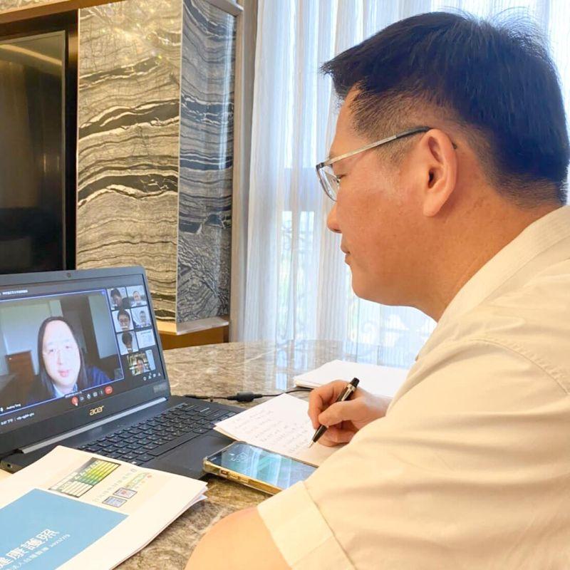 龍鳳會!林佳龍視訊唐鳳 談科技打造全民防疫安全網
