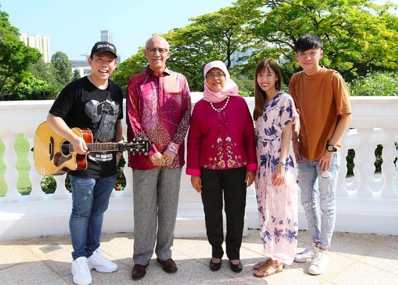 ▲Psquare 四方行唱進新加坡總統府。(圖/翻攝Psquare 四方行臉書)