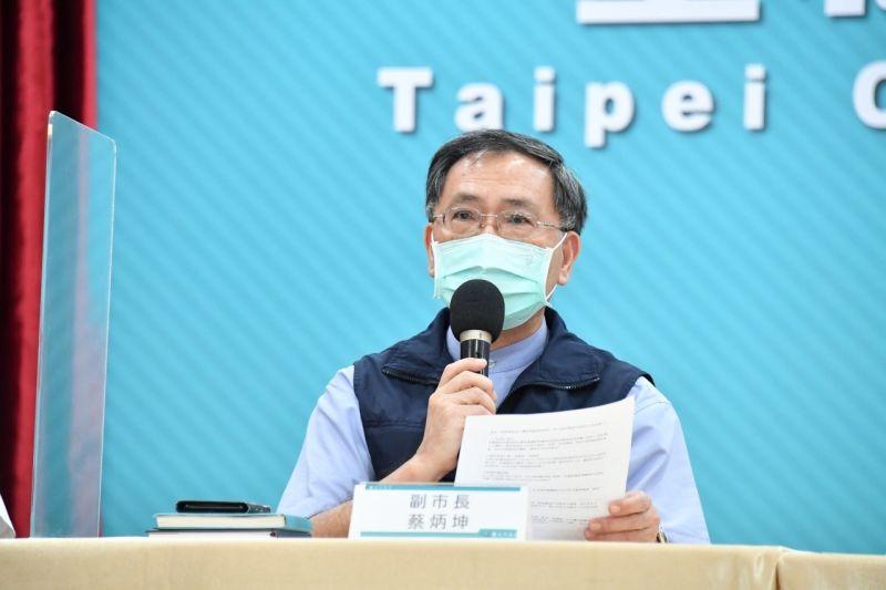 ▲台北市副市長蔡炳坤25日表示,台北市不會有打不完的莫德納疫苗被中央回收。(圖/台北市政府提供)