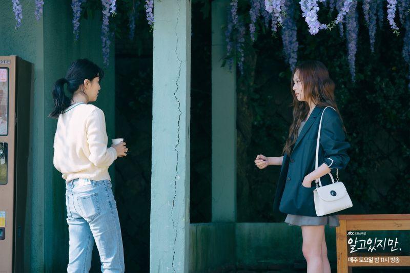 ▲劇中,韓韶禧(左)李烈音為了宋江宣戰。(圖/JTBC臉書)