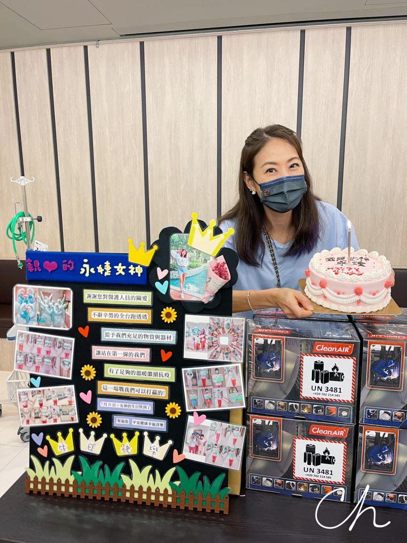 ▲前線醫護幫賈永婕過47歲生日。(圖/賈永婕臉書)