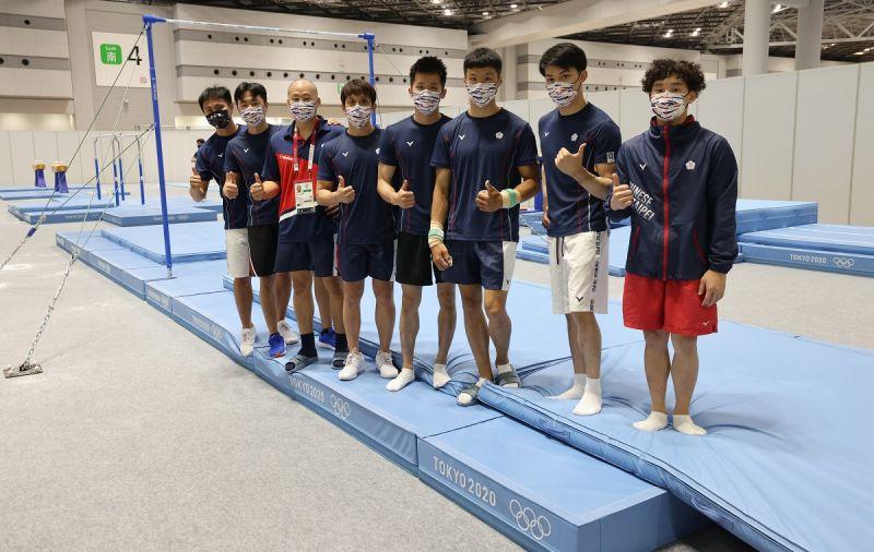 ▲教育部體育署21日召開記者會說明東京奧運選手準備狀況,圖為東京奧運台灣體操代表隊。(圖/中華奧會提供)