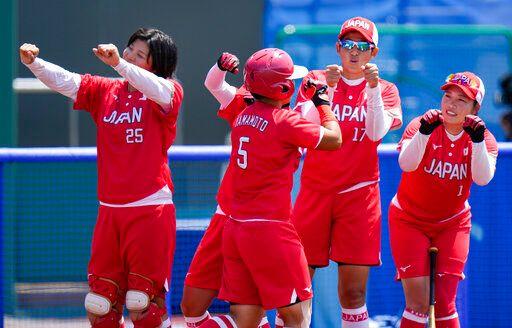 ▲日本女壘終場以8:1大勝澳洲,首戰旗開得勝。(圖/美聯社/達志影像)
