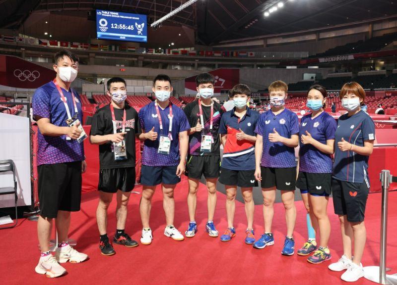 ▲台灣桌球團體合影。(體育署提供)
