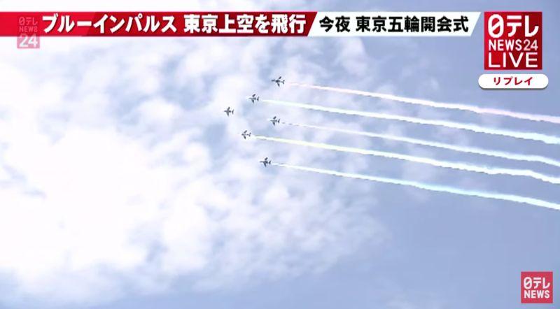 ▲日本藍色衝擊波自衛隊表演機種。(圖/取自日本電視台)