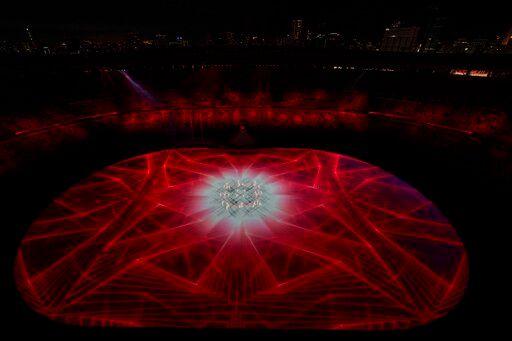 ▲東京奧運開幕表演。(圖/美聯社/達志影像)