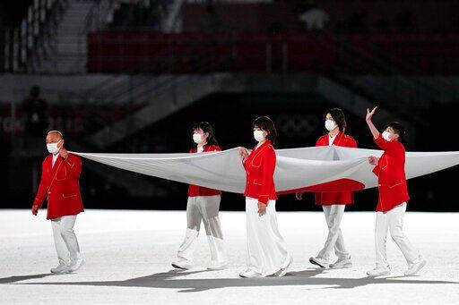 ▲東京奧運開幕,米希亞開場。(圖/美聯社/達志影像)