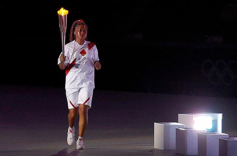 ▲大坂直美點燃東京奧運聖火。(圖翻攝自IG@olympics)