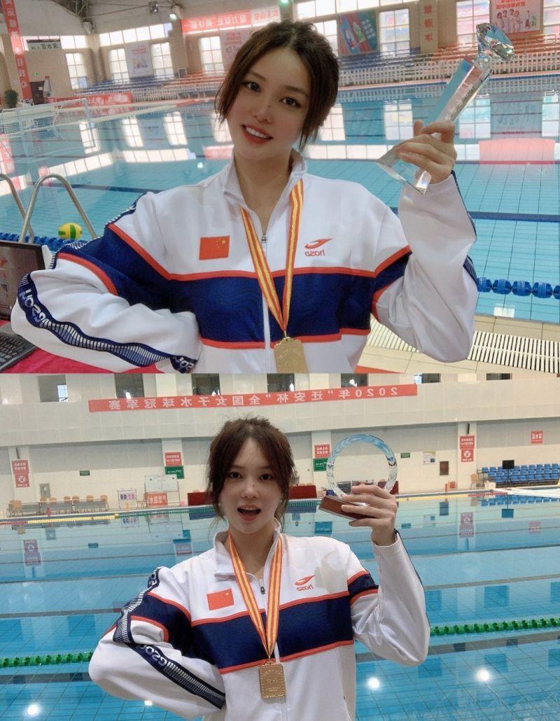 ▲生於1998年23歲的熊敦瀚,從2004年中國女子水球隊成立至今,熊敦瀚待在國家隊將近10年,目前已當上國家隊隊長。(圖/翻攝自微博)