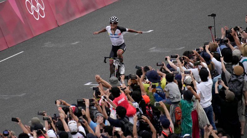▲厄瓜多自由車好手Richard Carapaz在東京奧運自由車男子公路賽奪金。(圖/美聯社/達志影像)