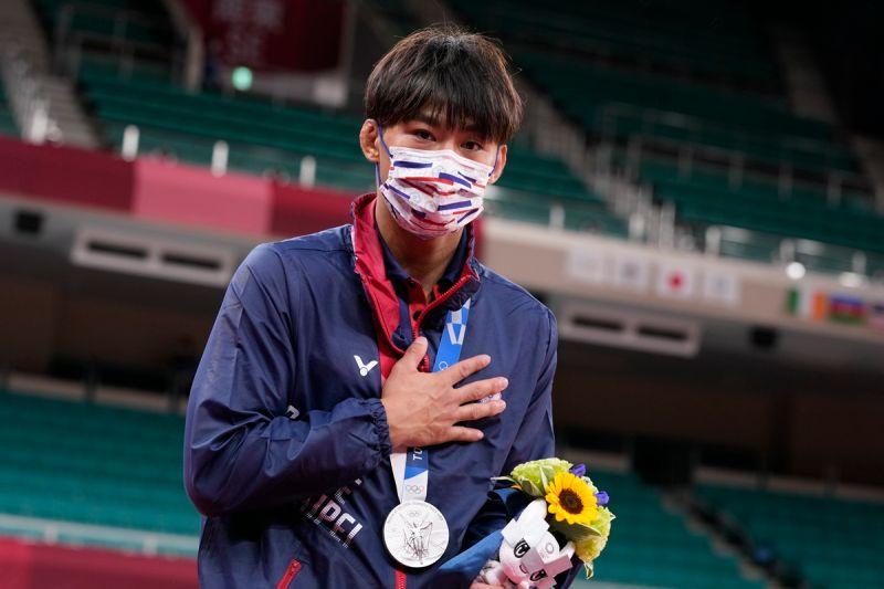 ▲具有排灣族血統的楊勇緯,生涯首度站上奧運最高殿堂。(圖/美聯社/達志影像)