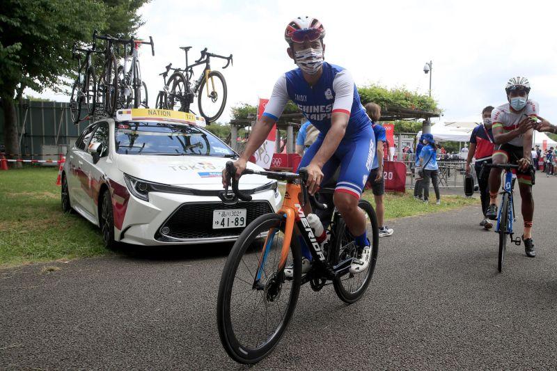 ▲馮俊凱參加東京奧運更路賽挑戰自我,可惜未能完賽。(圖/美利達提供)