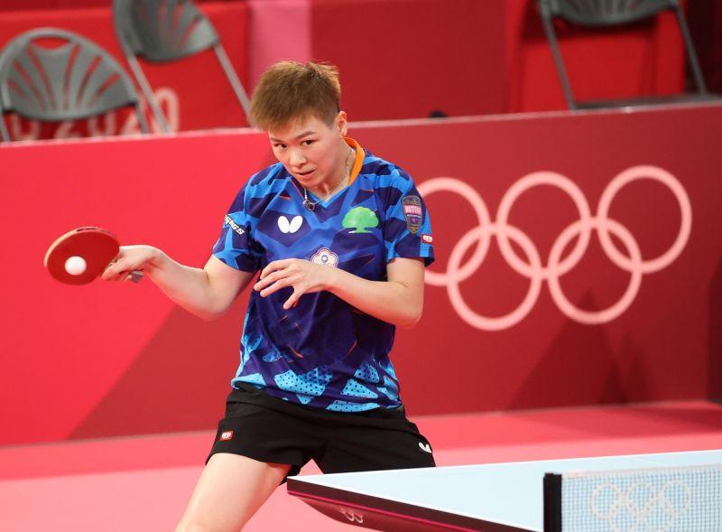 ▲2020東京奧運,我國桌球女將陳思羽不敵世界第3中國「小魔王」孫穎莎,無緣女單8強。(圖/體育署提供)