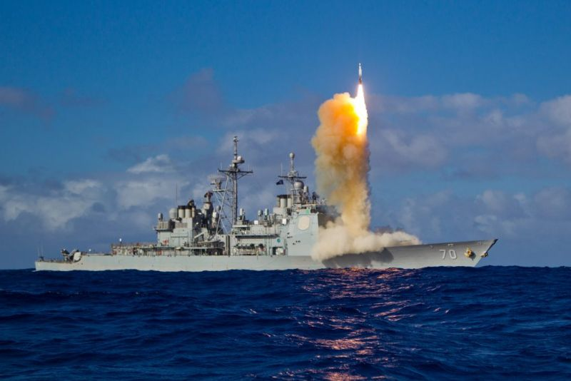 美飛彈防禦試驗 成功攔截兩短程彈道飛彈之一