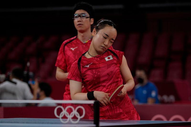 ▲伊藤美誠(右)在奧運兩次不敵孫穎莎。(圖/美聯社/達志影像)