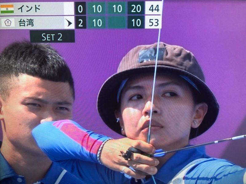 ▲日本《富士電視台》在比賽時的記分板上也是顯示「台灣」。(圖/翻攝自@ga28931469推特)