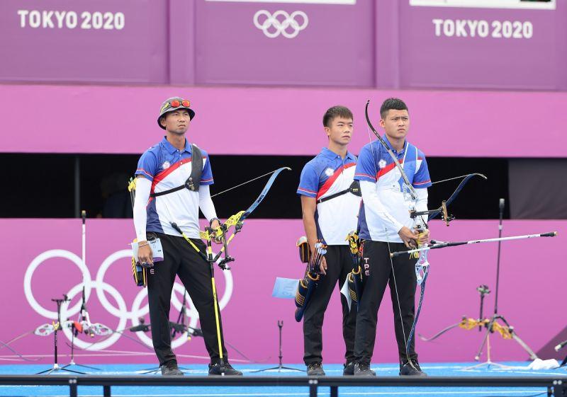 ▲東京奧運中華隊湯智鈞、魏均珩、鄧宇成。(圖/體育署提供)