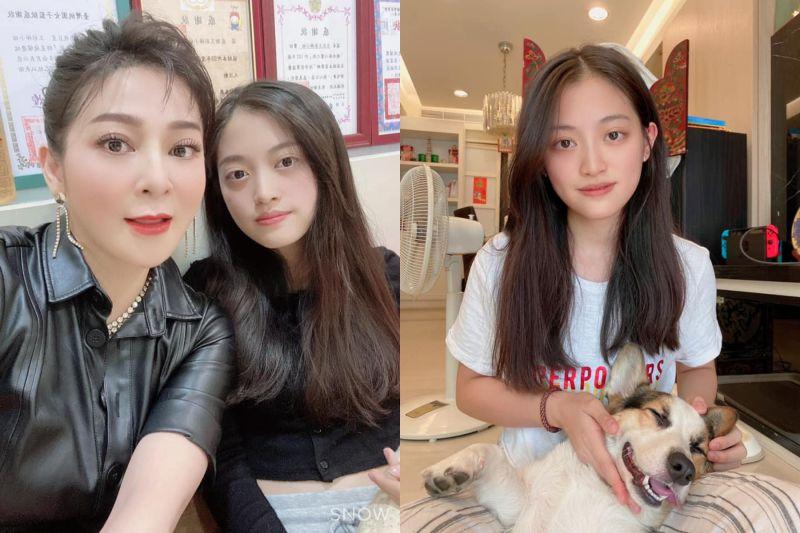 ▲王彩樺(左圖左)祝福小女兒黃繶帆(右圖)生日快樂,曬出她成長美照。(圖/王彩樺臉書)