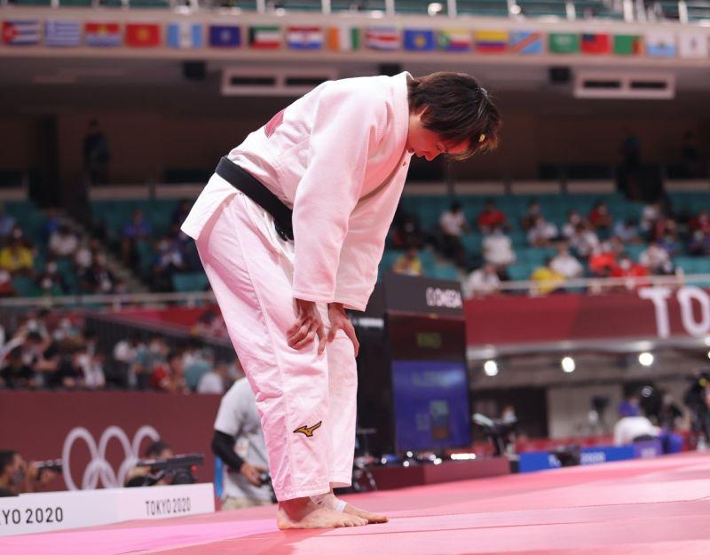 ▲柔道女王連珍羚在東京奧運16強含淚吞敗。(體育署提供)