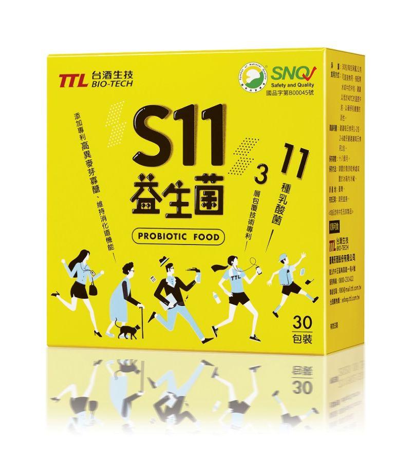 ▲以獨特的3層包覆技術確保活性穩定的S11益生菌