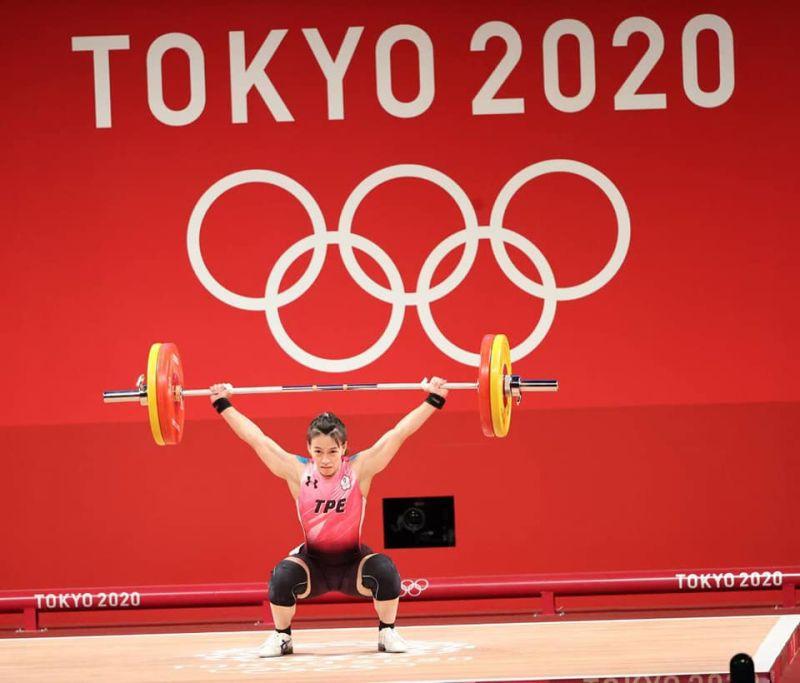 ▲舉重女神郭婞淳突破奧運紀錄,拿下東京奧運金牌。(圖/體育署)
