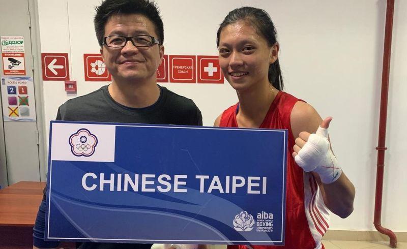 ▲23歲拳擊天才少女吳詩儀和教練賴明輝。(圖/取自吳詩儀Instagram)