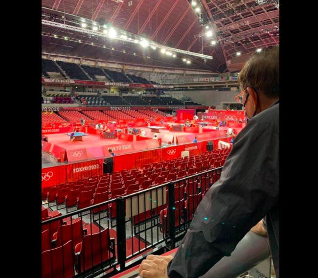 ▲駐日代表謝長廷到場觀賽。(圖/翻攝謝長廷臉書)