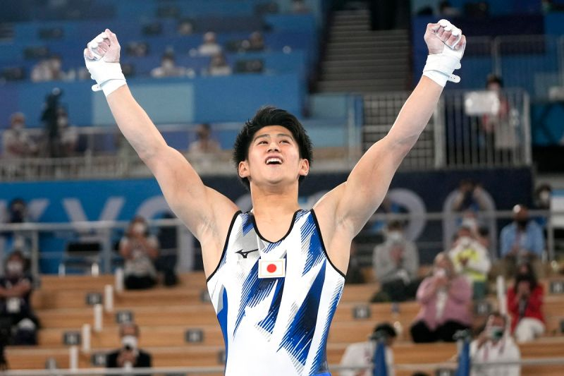 ▲日本體操新星橋本大輝獲得個人全能金牌。(圖/美聯社/達志影像)