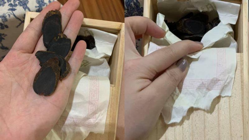 ▲有網友在家中發現擺放了28年之久的「韓國天字」人蔘片,便好奇它現在的價值。(圖/翻攝《爆系知識家》)