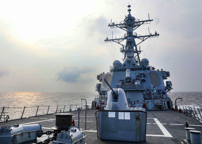 ▲美國伯克級飛彈驅逐艦「班福特號」為拜登上任後,第7度通過台灣海峽的軍艦。(圖/翻攝自美軍太平洋艦隊官方臉書)