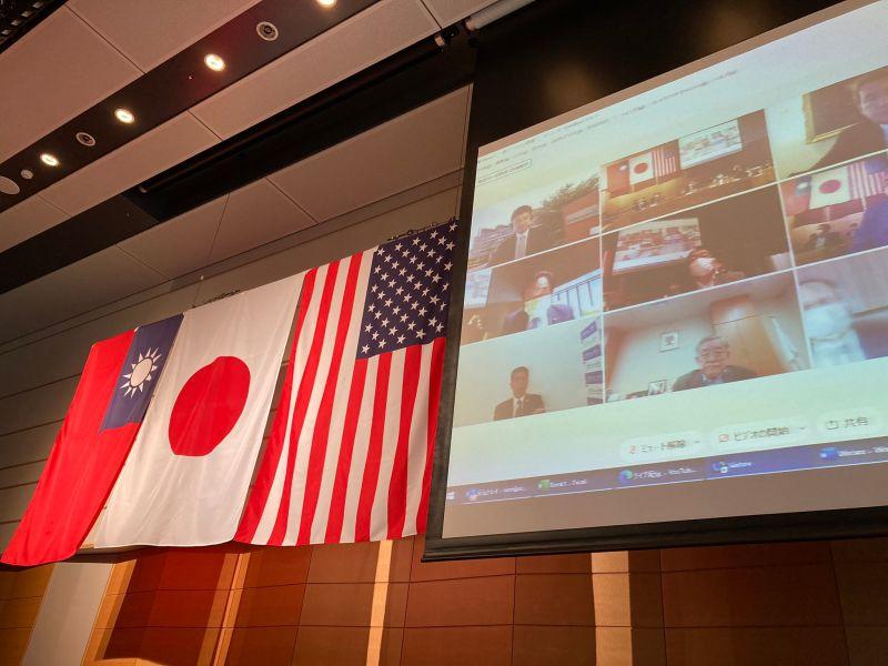 ▲第一屆「台美日國會議員戰略論壇」今日登場,台灣立法院長游錫堃也受邀出席。(圖/翻攝自和田正宗推特)