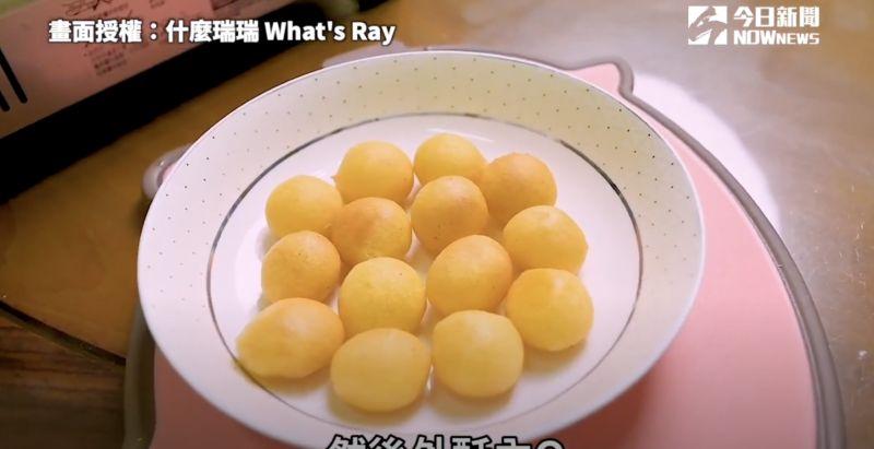 ▲要如何才能自己在家做出夜市美食「地瓜球」呢?(圖/什麼瑞瑞