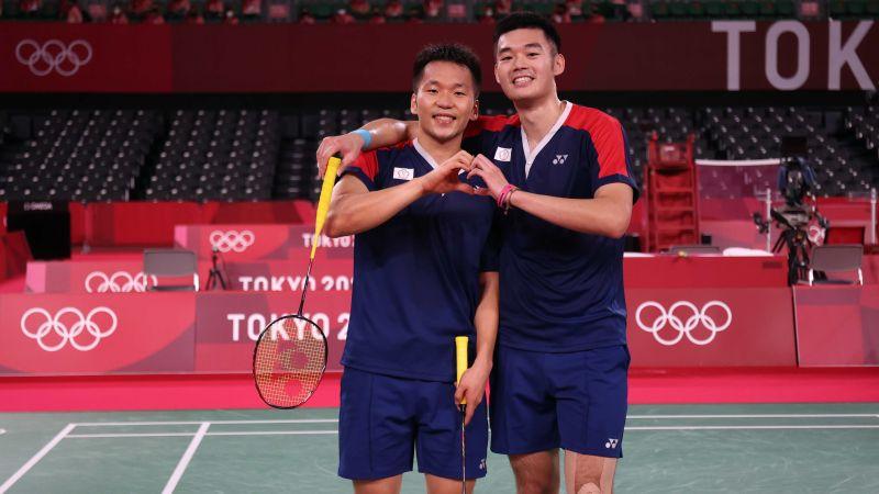 ▲東京奧運台灣羽球代表隊,王齊麟/李洋。(圖/體育署提供)
