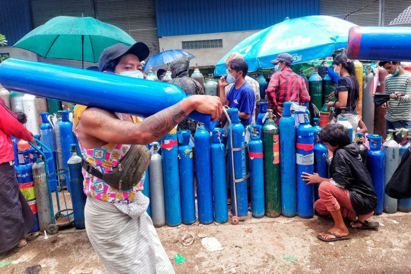 影/緬甸半數人口未來2週內恐染疫!軍政府向東協求助