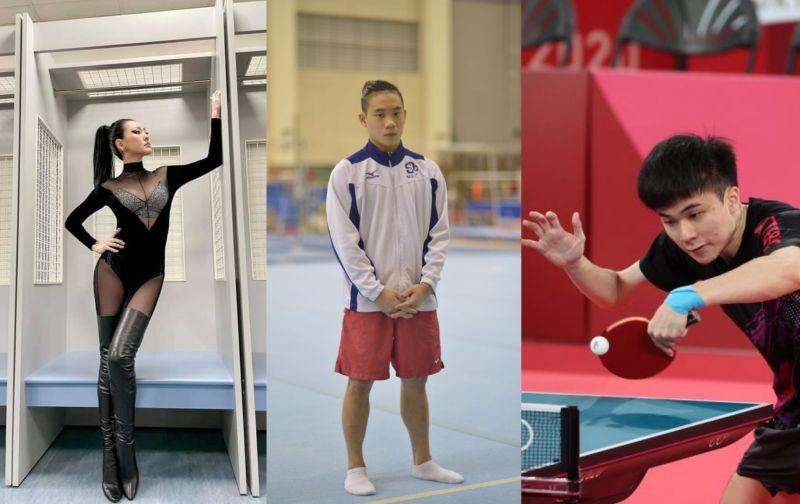 ▲小S(左)要「兒子」洪源禧(中)揪林昀儒(右)回家吃飯。(圖/小S臉書、體育署、國訓中心提供)