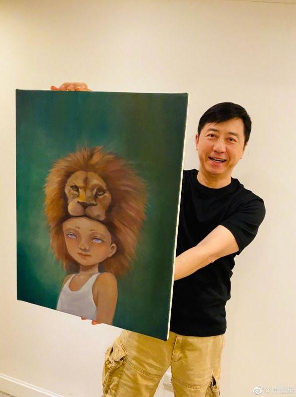 ▲哈林去年生日收到兒子的畫作。(圖/庾澄慶微博)