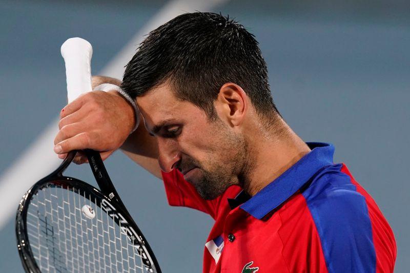 ▲Novak Djokovic爆冷在東奧輸球。(圖/美聯社/達志影像)