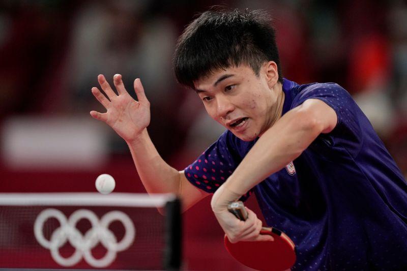 ▲2012年倫敦奧運的「桌球教父」莊智淵,當時他就是敗給Ovtcharov,因此今天就看林昀儒是否能為老大哥復仇。(圖/美聯社)
