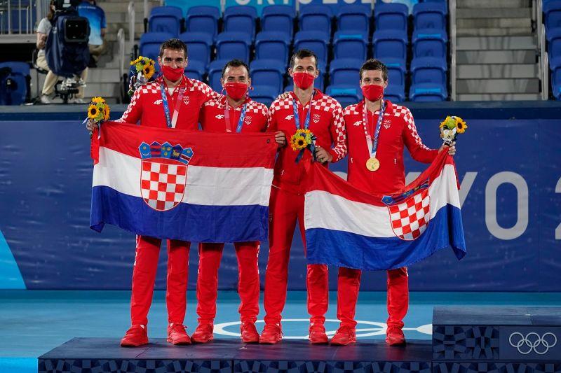 ▲克羅埃西亞在東京奧運網球男雙「金包銀」。(圖/美聯社/達志影像)