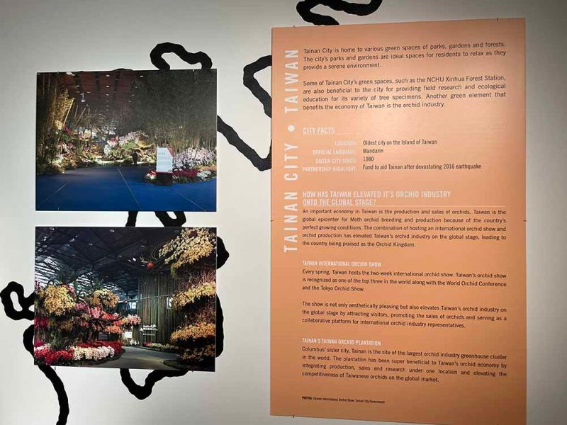 台南市花揚威海外 美國哥倫布市園藝展大秀國際蘭展之美