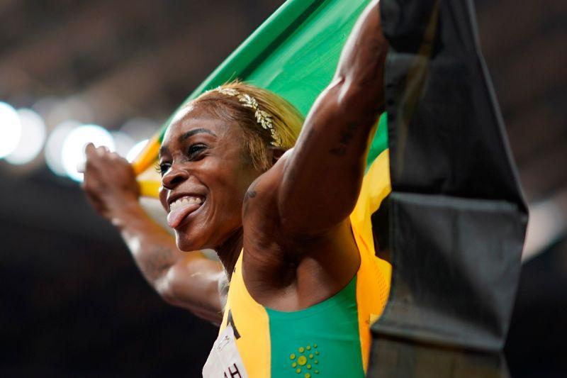 ▲牙買加名將Elaine Thompson Herah在東京奧運女子100公尺項目跑出10秒61的成績,打破奧運紀錄。(圖/美聯社/達志影像)