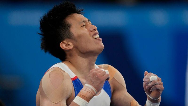 ▲「鞍馬王子」李智凱在東京奧運個人鞍馬決賽中奪銀。(圖/美聯社)