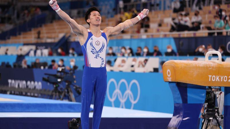 ▲「鞍馬王子」李智凱在東京奧運個人鞍馬決賽中奪銀。(圖/體育署)