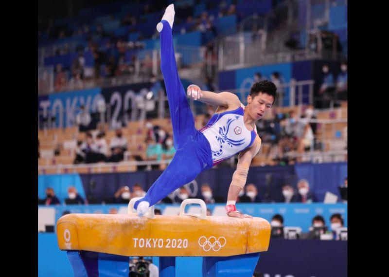 ▲李智凱奪銀成為台灣奧運體操史上第一人。(圖/翻攝賴清德臉書)